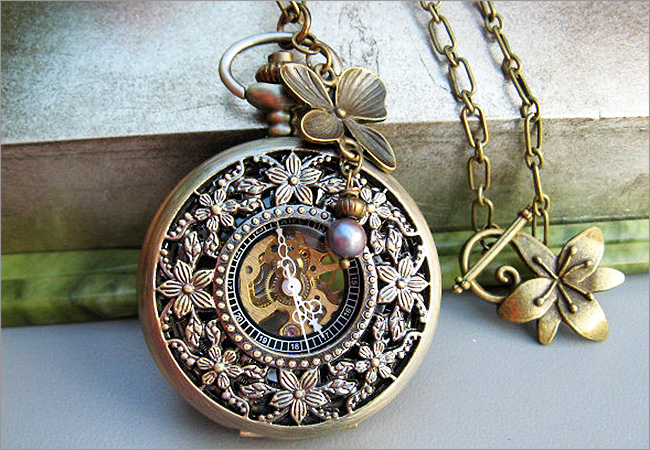Women's Pocket Watch - Necklace Style